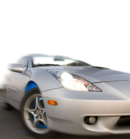 sportcar: Fast sportcar isolated on white background