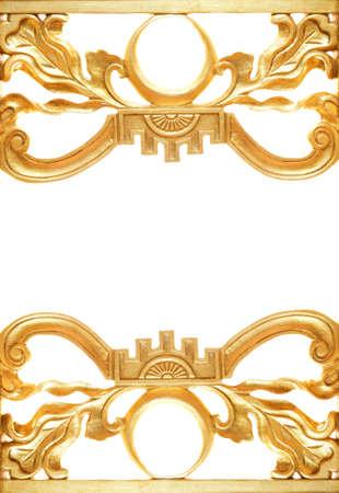 Abstract golden border photo