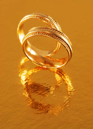 Two golden wedding rings Stock Photo - 2457760