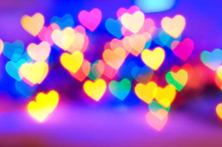 Abstract blurred background (natural heart shaped bokeh) photo