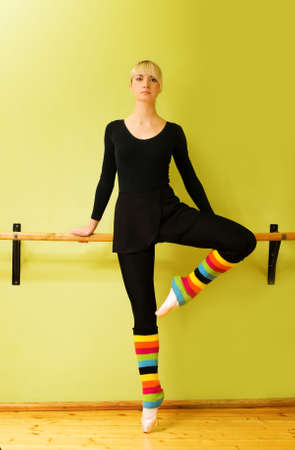 leg warmers: Beautiful ballet dancer (check my portfolio for other pictures in this series) Stock Photo