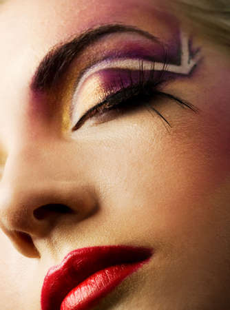 Creative fashion make-up Stock Photo - 2532380