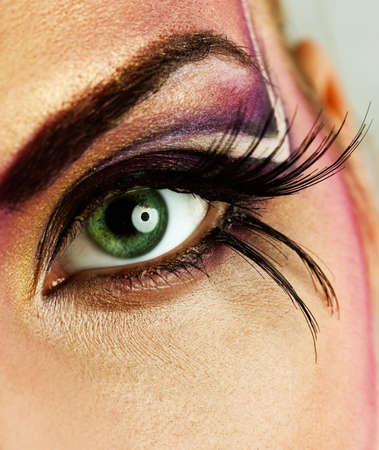 Creative eye make-up Stock Photo - 2556693