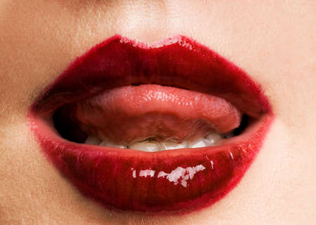 Red lips photo