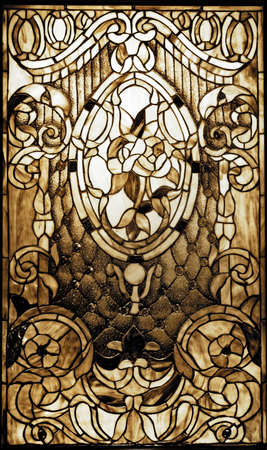 Vintagel stained-glass window