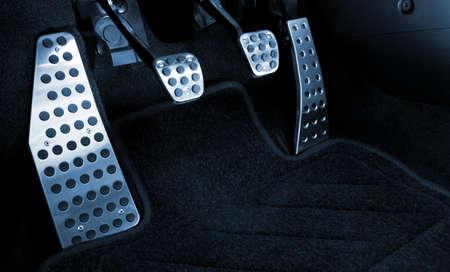 palanca: Deporte coche pedales cromados (en tonos azul)