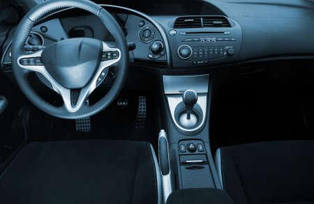 Modern sport car interior photo
