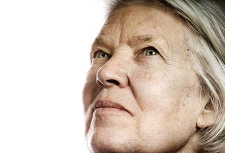 Elderly woman's portrait. Isolated on white background Stock Photo - 2797275