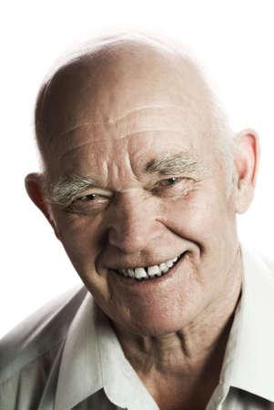 Happy elderly man isolated on white background Stock Photo - 2797271