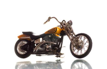 throttle: Motorcycle isolated on white background