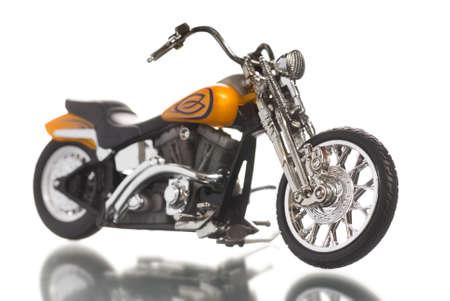Motorcycle isolated on white background photo