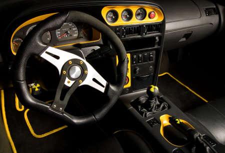 Tuned sport car interior photo