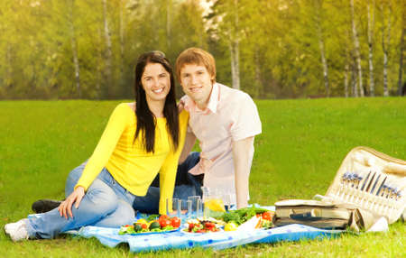 Young couple at  picnic Stock Photo - 3001550