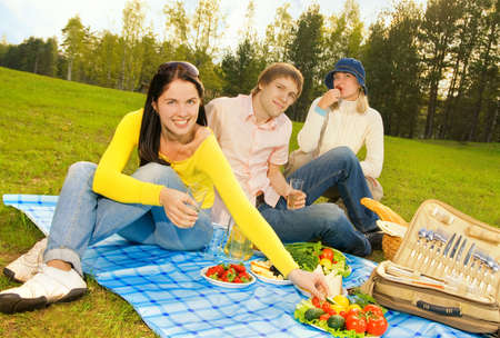Friends at picnic Stock Photo - 3001580