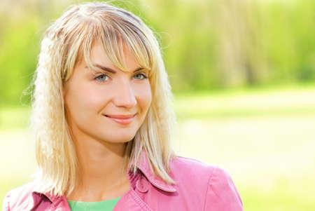 Beautiful young woman outdoors Stock Photo - 3008755