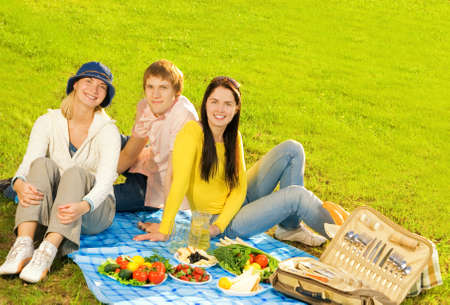 Friends at picnic Stock Photo - 3031195
