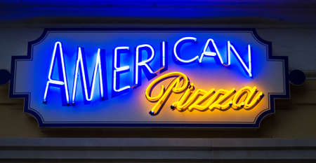 American pizza sign photo