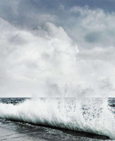 Big ocean wave breaking the shore Stock Photo - 3227952