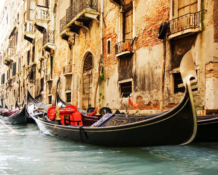 Traditional Venice gandola ride Stock Photo - 3243930