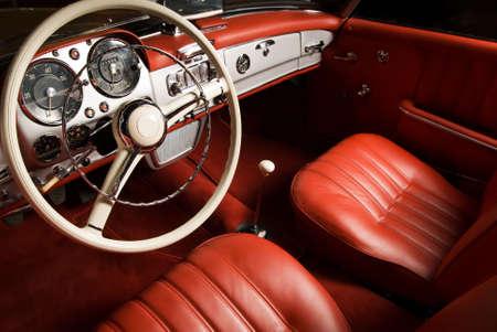 old interior: Luxury car interior