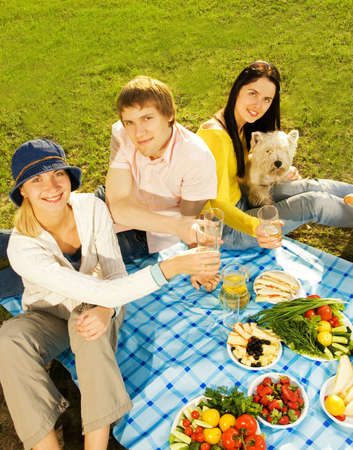 Friends at picnic photo