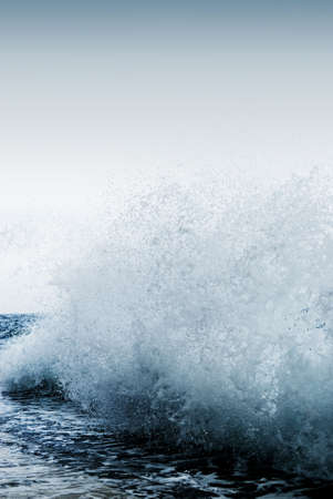 Big ocean wave breaking the shore Stock Photo - 3368609