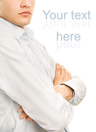 Young business man isolated on white background Stock Photo - 3402542