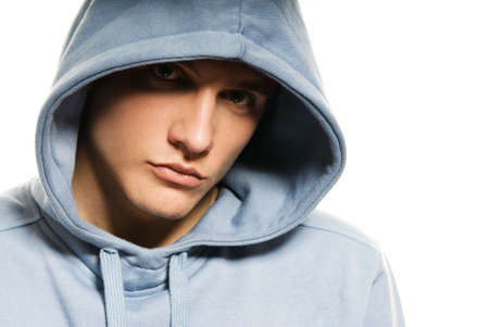 Handsome young man in a hood Stock Photo - 3422149