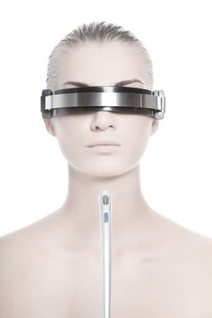 Futuristic cyber online operator Stock Photo - 3437651