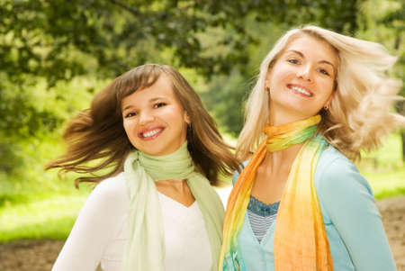 Beautiful young women outdoors Stock Photo - 3519873