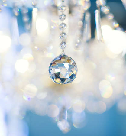 Crystal vintage lamp detail (shallow DoF) Stock Photo - 3623033