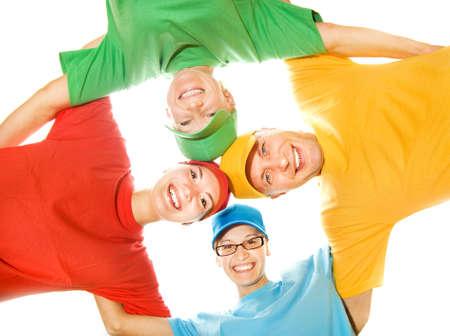 mejores amigas: Feliz aisladas sobre fondo blanco Foto de archivo