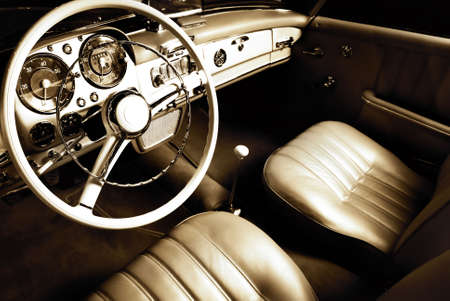 oldtimer: Luxury car interior