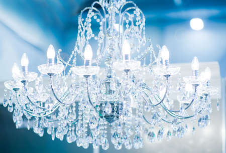 chandelier background: Vintage crystal lamp