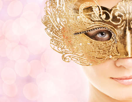 Beautiful young woman in carnival mask Stock Photo - 3733370
