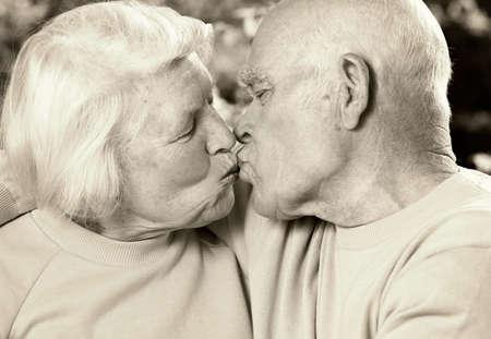 Senior couple in love photo