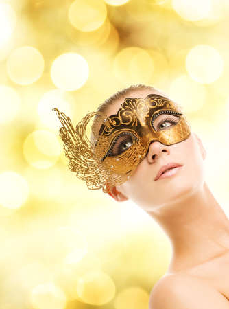 Beautiful young woman in carnival mask Stock Photo - 3816199