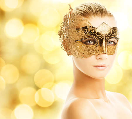 Beautiful young woman in carnival mask Stock Photo - 3816200