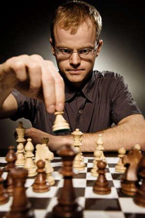 Chess master making smart move Stock Photo - 3820935