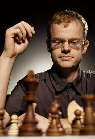 Chess master making smart move Stock Photo - 3820933