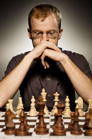 Thoughtful chess master Stock Photo - 3826801