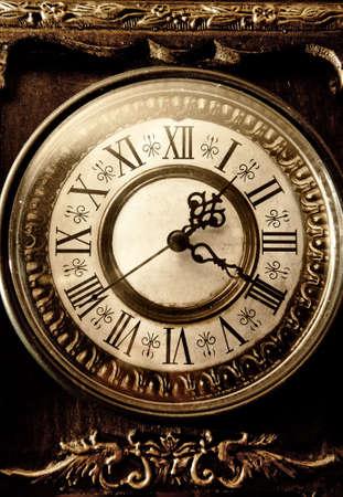winder: Old antique clock Stock Photo