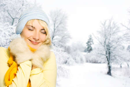 Beautiful young woman in winter clothing Stock Photo - 3985370