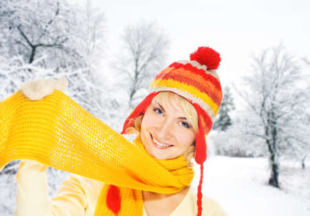 Beautiful young woman in winter clothing Stock Photo - 3985372