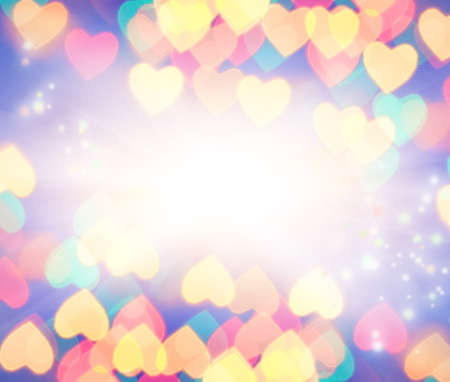 Abstract blurred background (natural heart shaped bokeh) Stock Photo - 4034228