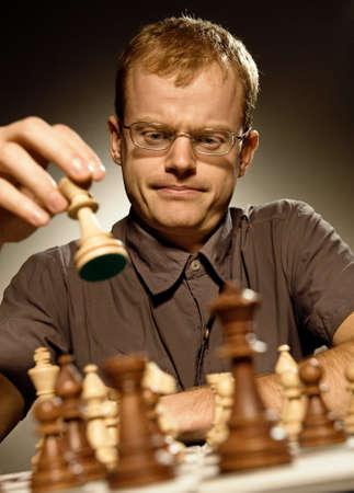 Chess master making smart move Stock Photo - 4045622