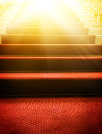 Stairs covered with red carpet Stock Photo - 4070884