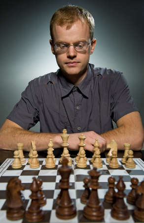 Thoughtful chess master Stock Photo - 4115725