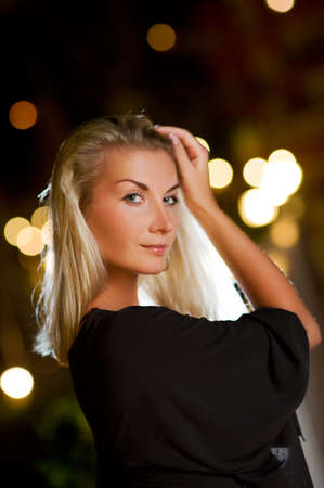 Young blond woman outdoors. Close-up portrait Stock Photo - 4159049