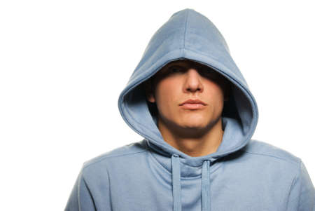 Handsome young man in a hood Stock Photo - 4182975